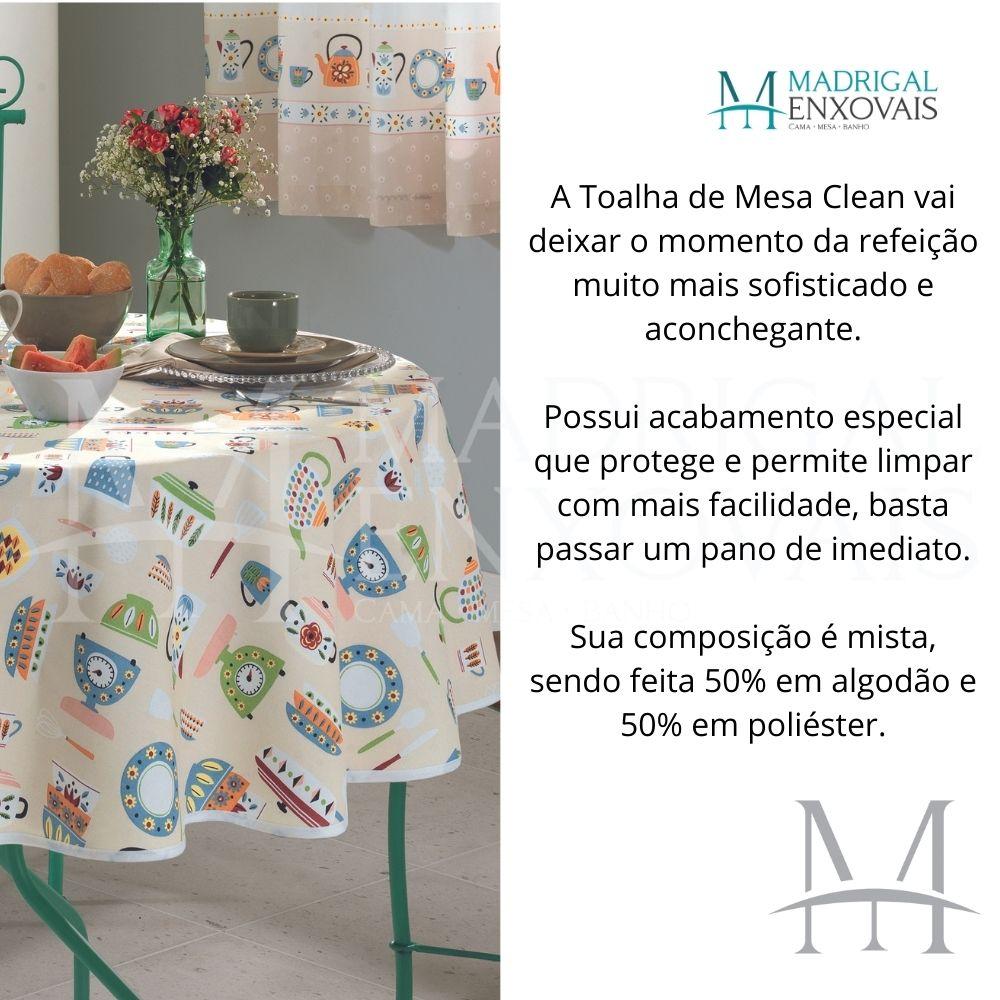 Toalha De Mesa Dohler Limpa Fácil Athenas 1,60m Redonda Edilene