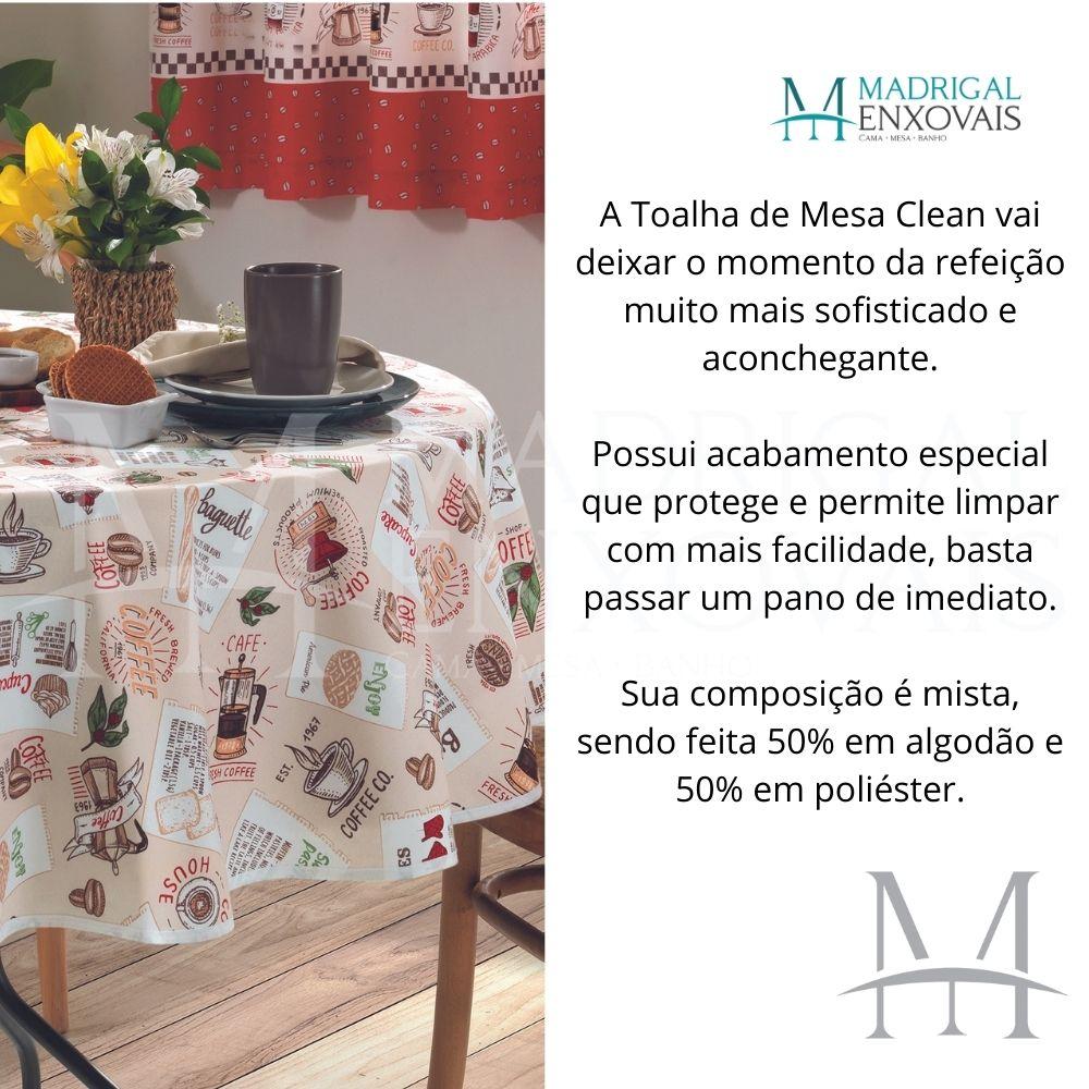Toalha De Mesa Dohler Limpa Fácil Athenas 1,60m Redonda Emma