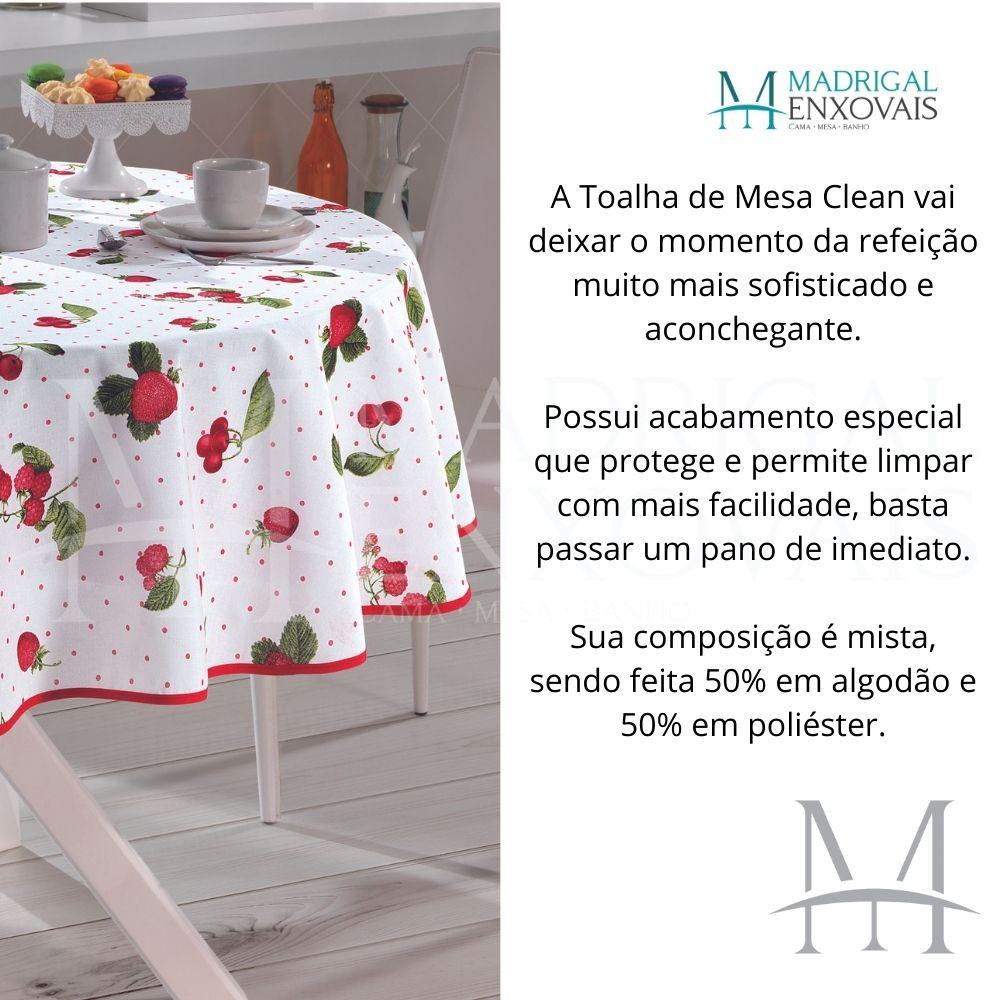 Toalha De Mesa Dohler Limpa Fácil Athenas 1,60m Redonda Iolanda