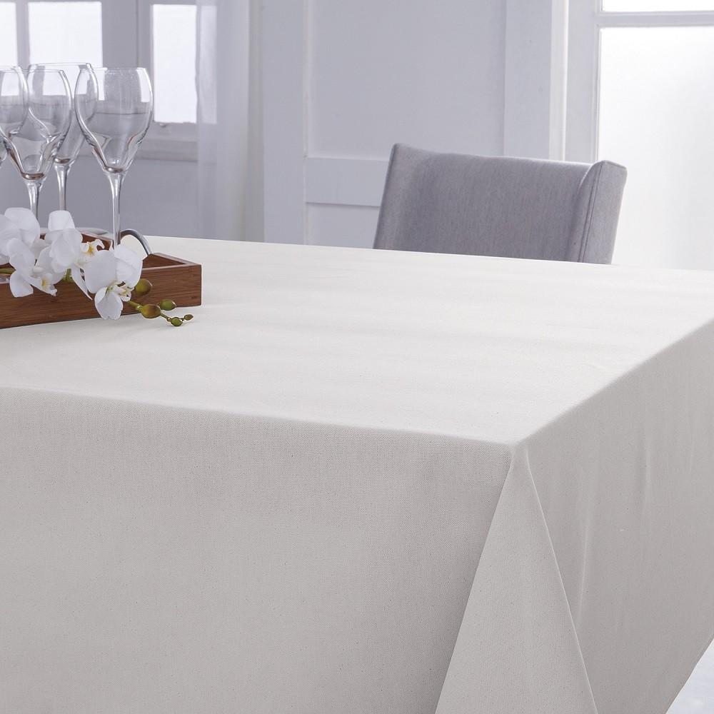 Toalha de Mesa Naturalle Limpeza Prática 2,20x2,20m Off-White