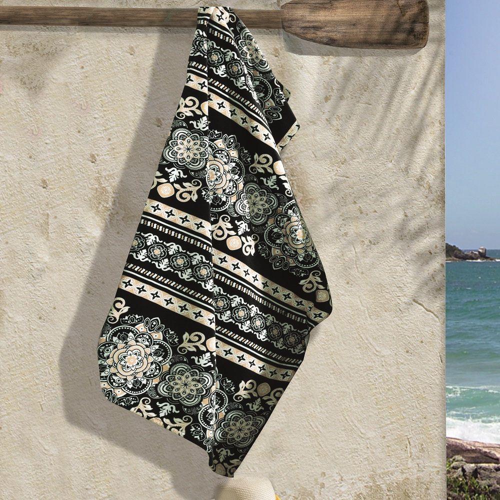 Toalha de Praia Extra Gigante Aveludada Renda 0,86x1,62m Dohler