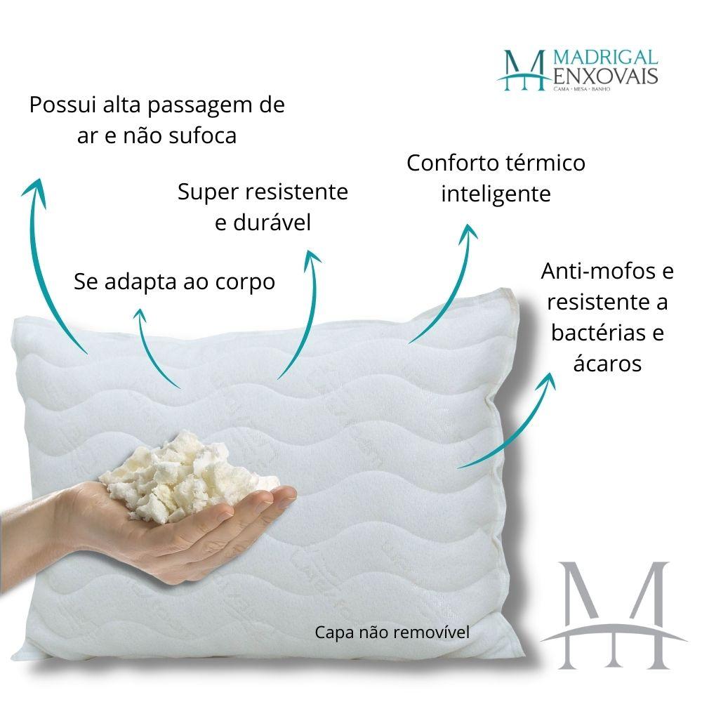 Travesseiro Látex Natural em Flocos Latexfoam Basic Baixo 13cm