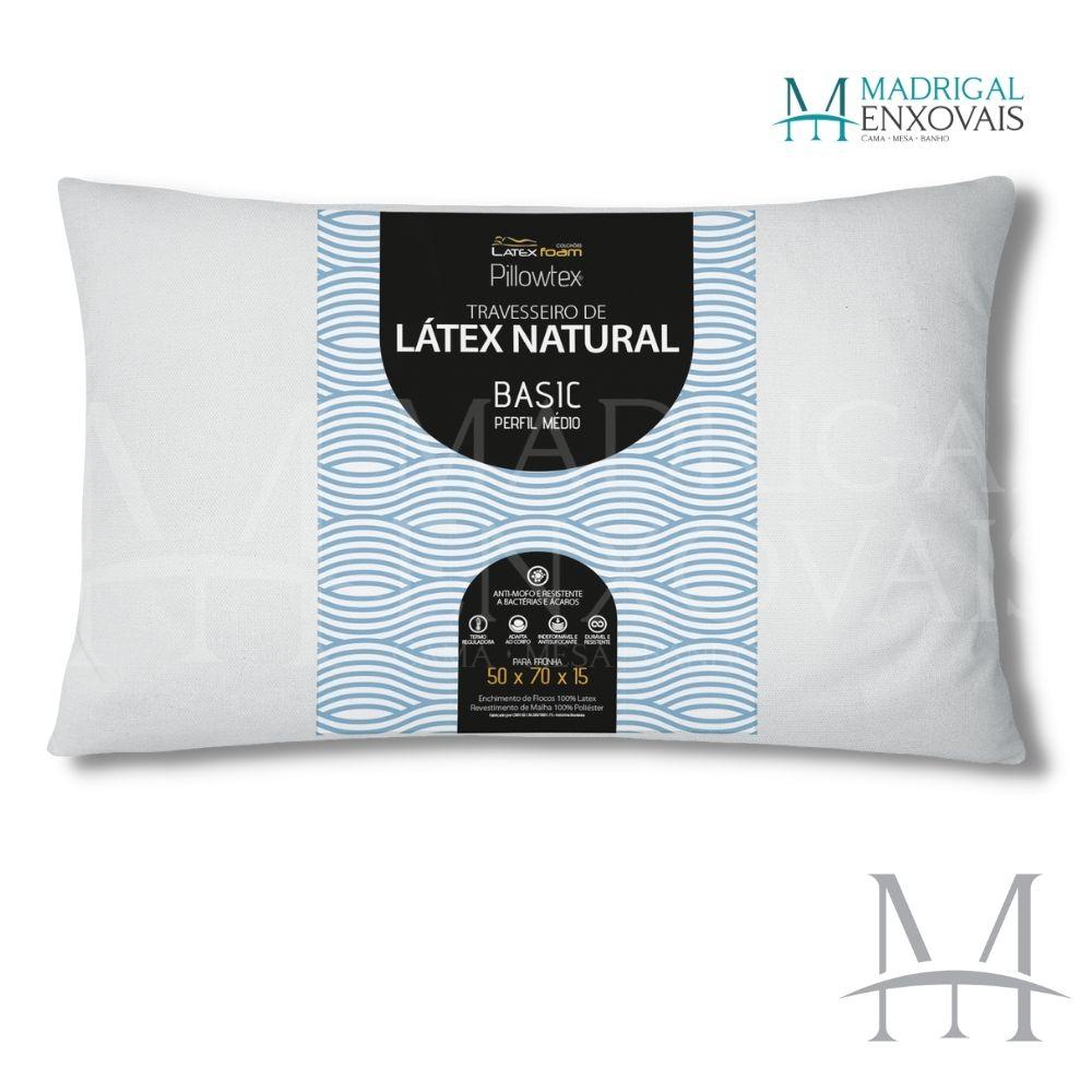 Travesseiro Látex Natural em Flocos Latexfoam Basic Médio 15cm