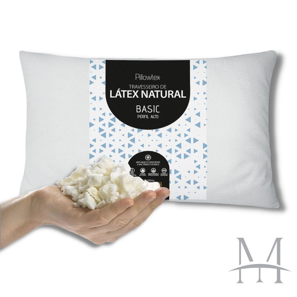 Travesseiro Látex Natural em Flocos Latexfoam Basic Alto 18cm