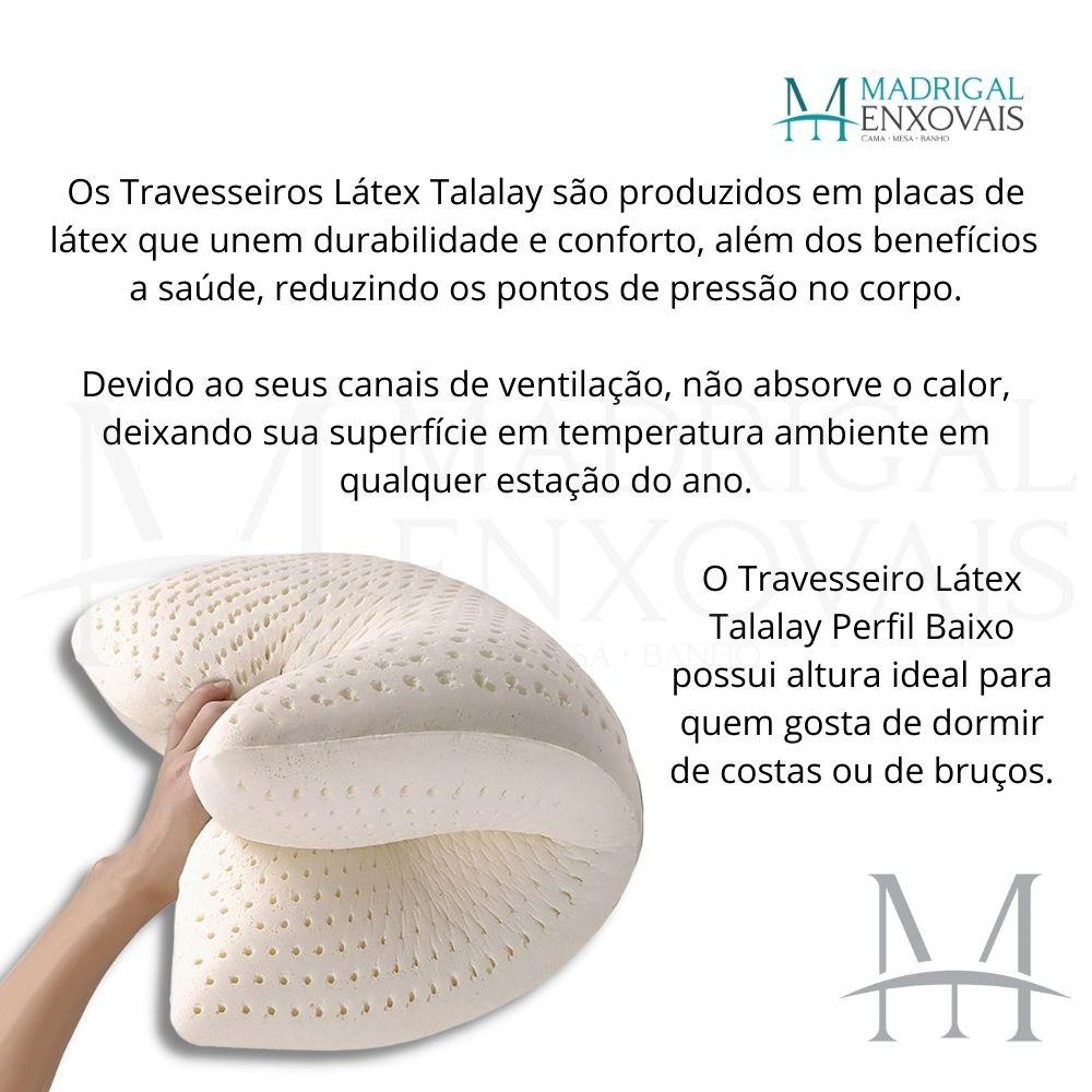 Travesseiro 100% Látex Natural Talalay Latexfoam Baixo 13cm
