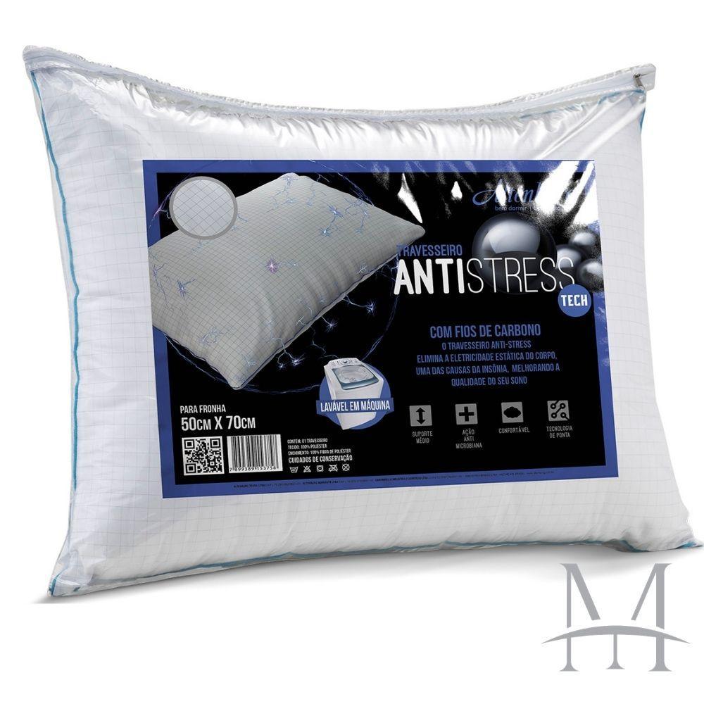 Travesseiro Altenburg Antistress Tech 0,50x0,70m Suporte Médio