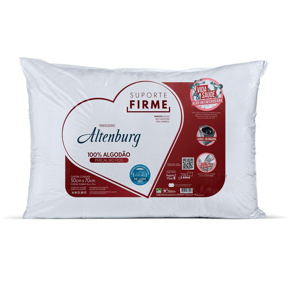 Travesseiro Altenburg Suporte Firme 0,50x0,70m Algodão 180 Fios