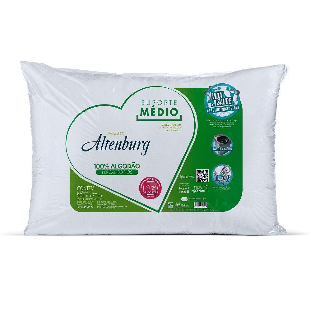 Travesseiro Altenburg Suporte Médio 0,50x0,70m Algodão 180 Fios