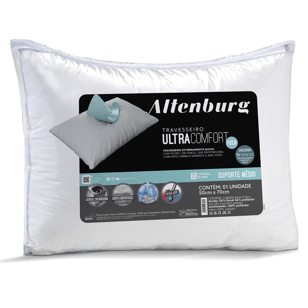 Travesseiro Altenburg Ultracomfort Tech 0,50x0,70m Suporte Médio
