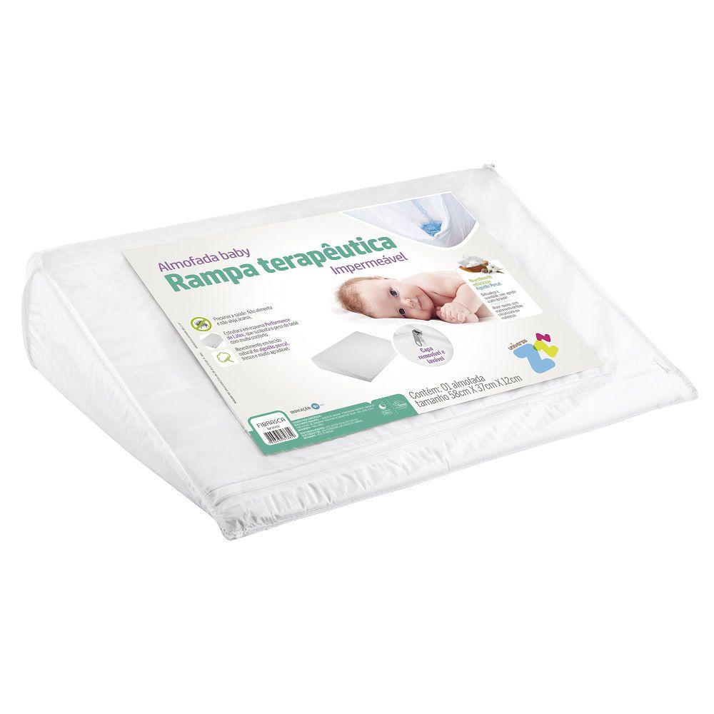 Travesseiro Anti Refluxo Baby Rampa Impermeável Fibrasca