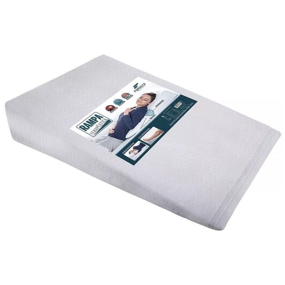 Travesseiro Antirefluxo Adulto Rampa Impermeável Fibrasca