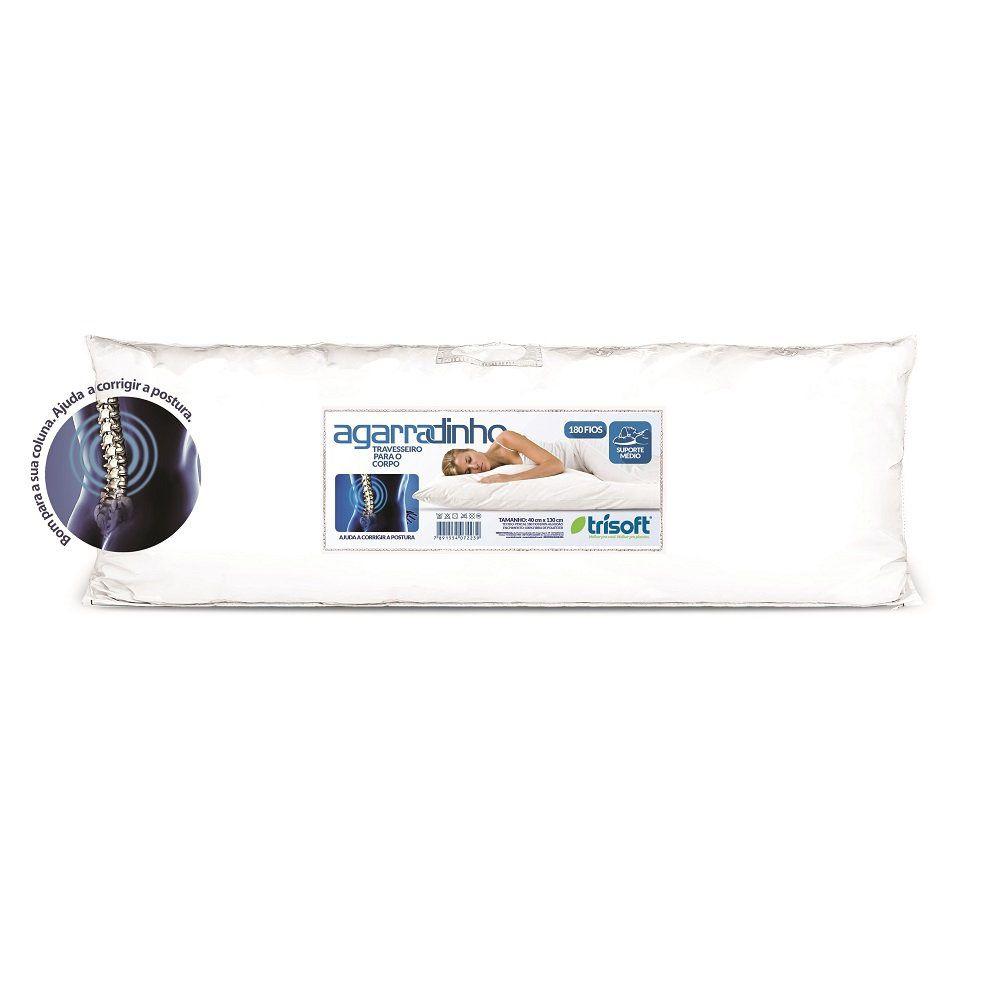 Travesseiro Corpo 0,40x1,30m Agarradinho Suporte Médio Percal 180 Fios