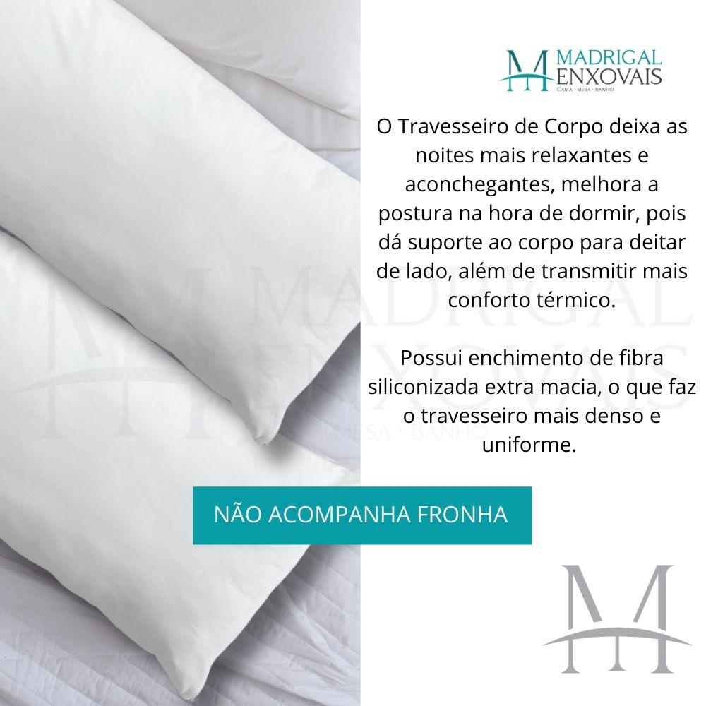 Travesseiro de Corpo Gestante Lavive 0,50x1,50m Fibra Siliconada