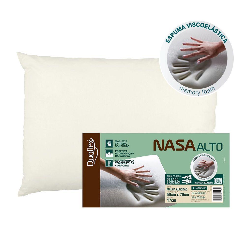 Travesseiro Duoflex Nasa Alto Viscoelástico 50x70x17cm NS1119