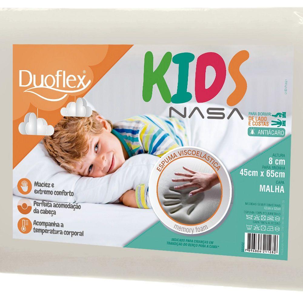 Travesseiro Duoflex Nasa Kids Viscoelástico 45x65x8cm BB3202