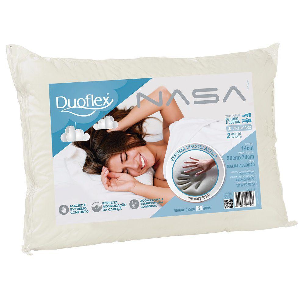 Travesseiro Duoflex Nasa Viscoelástico 50x70x14cm - NS1114