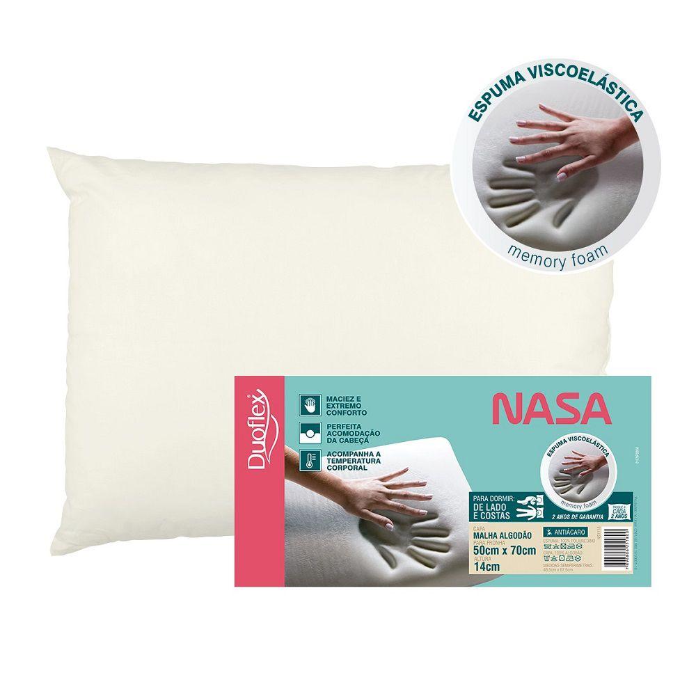 Travesseiro Duoflex Nasa Viscoelástico 50x70x14cm NS1118
