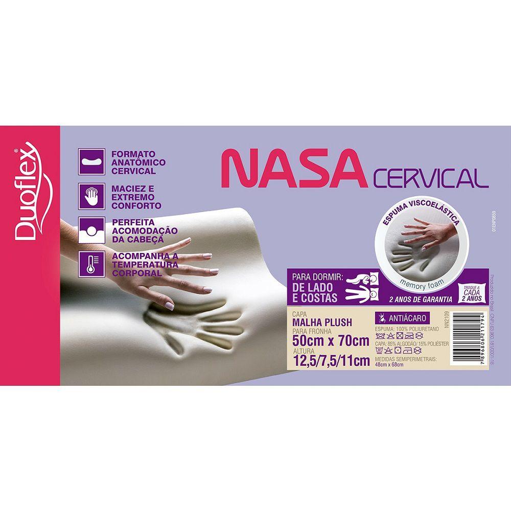 Travesseiro Duoflex Nasa Viscoelástico Cervical 50x70cm NN2109