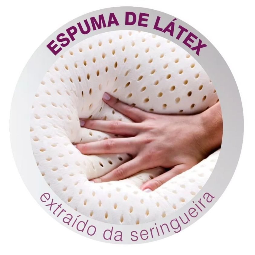 Travesseiro Duoflex Real Látex 50x70x16cm LS1109
