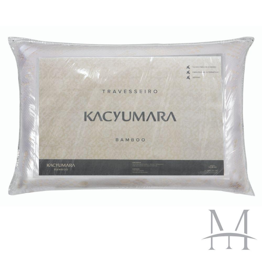 Travesseiro Kacyumara Fibra de Bamboo 100% Algodão 50x70cm