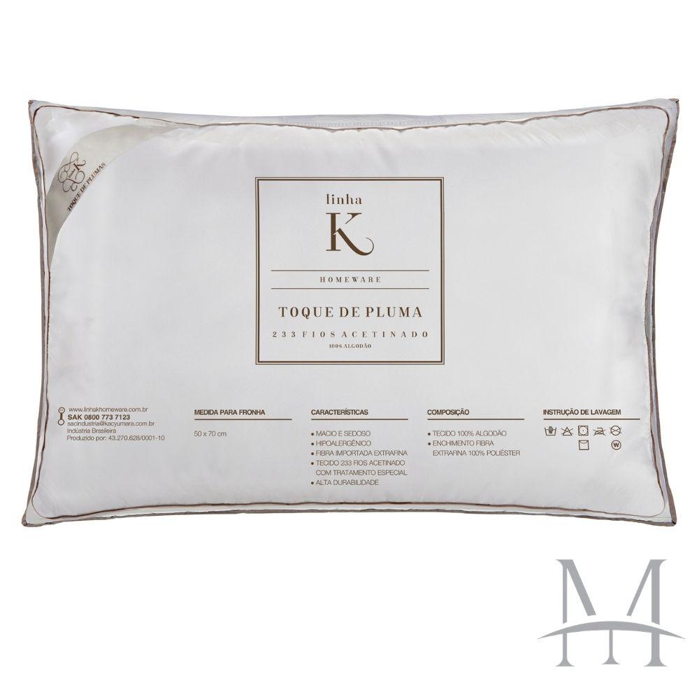Travesseiro Kacyumara Toque de Pluma 100% Algodão 233 Fios 50x70cm