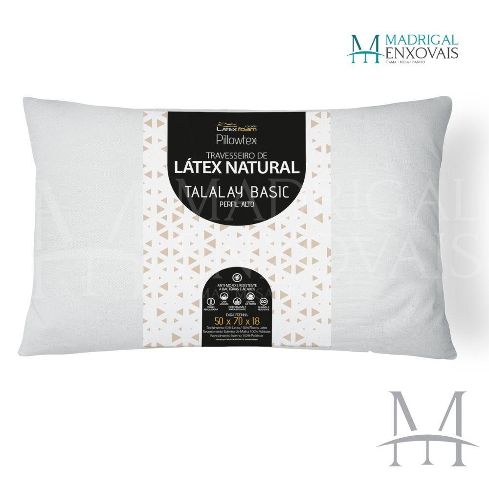 Travesseiro Látex Natural Talalay Basic Latexfoam Alto 18cm