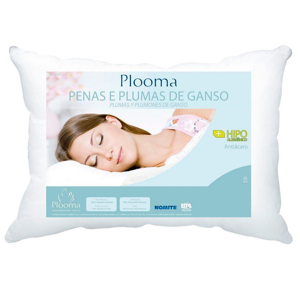 Travesseiro Plooma 80% Pena 20% Plumas de Ganso 0,50x0,70m