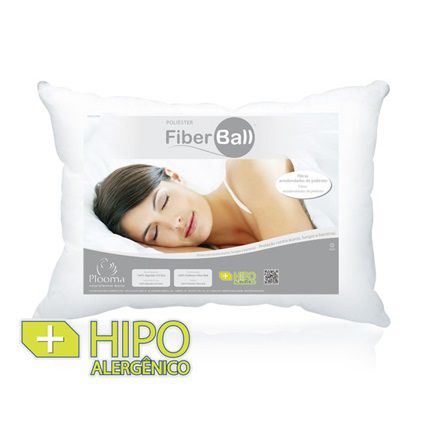 Travesseiro Plooma Fibra Poliéster 0,50x0,70m Fiber Ball