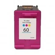 CARTUCHO HP 60 COLORIDO - CC643WB  HP Deskjet D1660 / D2530 / D2545 / D2560 / D2660 / F4280 / F4480 / F4580 • HP Photosmart C4680 / C4780