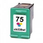 Cartucho  HP 75XL CB338WB Colorido | Photosmart C4480 C4280 C5280 | 18ml COMPATÍVEL