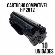 COMBO CART. TONER HP 2612 A COMP. (PERSONAL) - COM 10 UNIDADES