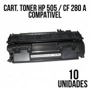 TONER HP 505 / CF 280 A COMPATÍVEL - COM 10 UNIDADES