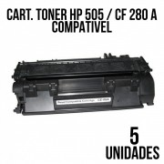 TONER HP 505 / CF 280 A COMPATIVEL - COM 5 UNIDADES