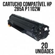 COMBO CARTUCHO TONER HP CE 285 A P1102W COMPATIVEL - COM 20 UNIDADES