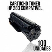 COMBO DE CARTUCHO DE TONER COMPATÍVEL HP 283 A - COM 100 UNIDADES