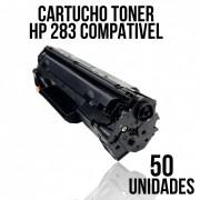COMBO DE CARTUCHO DE TONER COMPATÍVEL HP 283 A - COM 50 UNIDADES