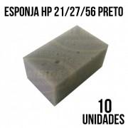 COMBO DE ESPONJA HP 21/27/56 PRETO - COM 10 UNIDADES