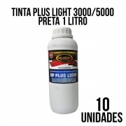 TINTA PLUS LIGHT 3000/5000 PRETA - COMBO COM 10 UNIDADES