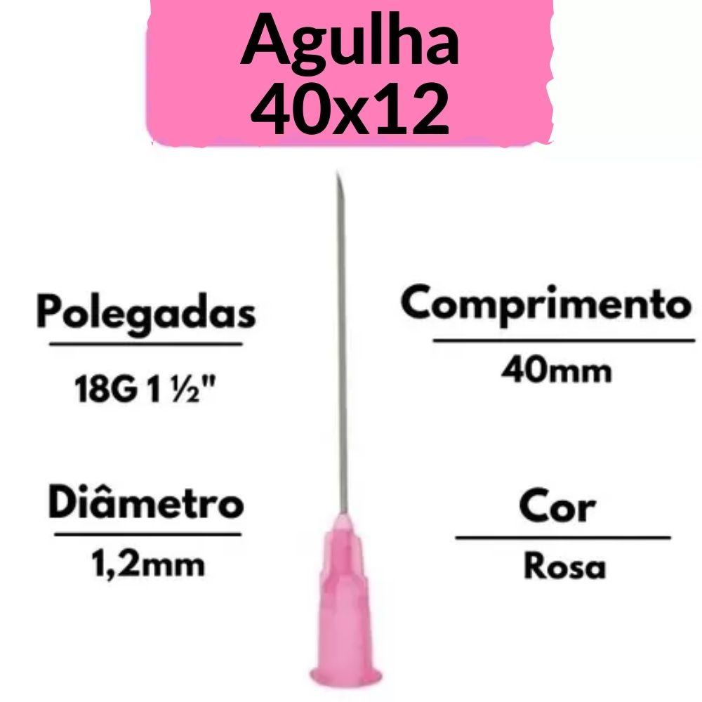 AGULHA DESCARTAVEL 40X12 18G