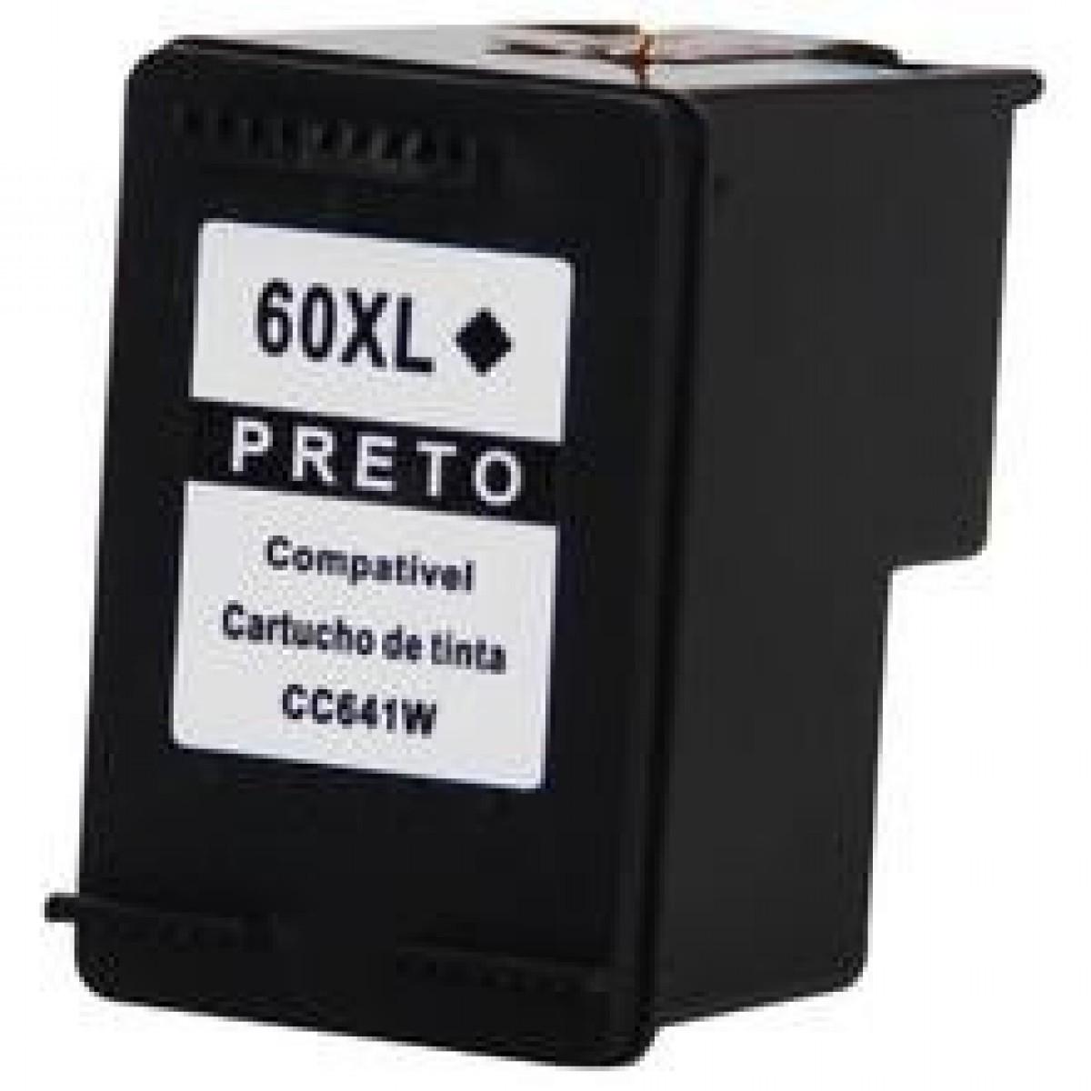 Cartucho  HP 60XL 60  compatível Preto CC641WB | C4680 C4780 D1660 F4280 F4580 F4480