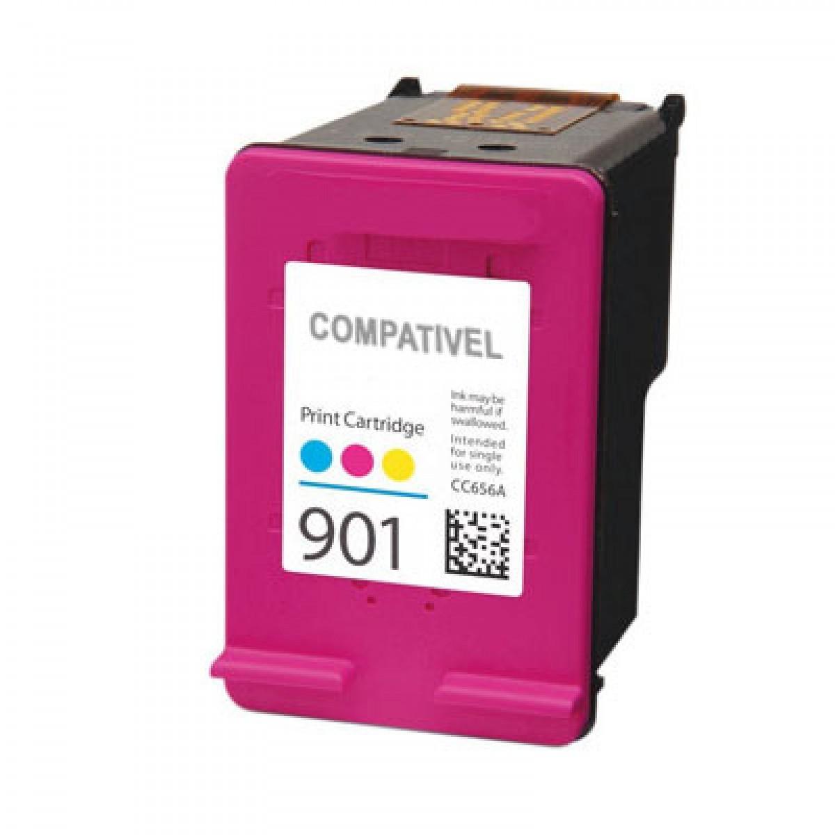 CARTUCHO DE TINTA HP 901 COLOR COMPATÍVEL XL