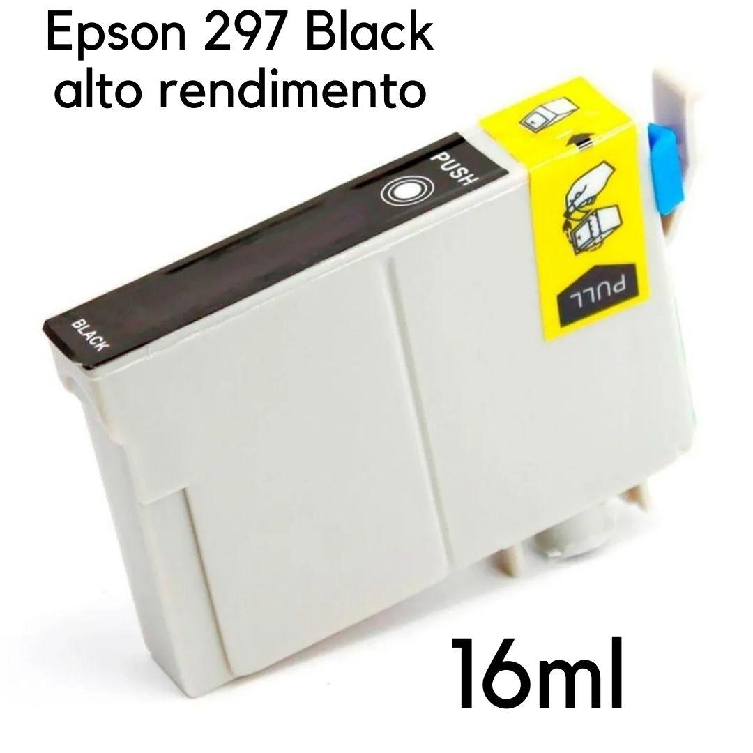CARTUCHO EPSON 297 PRETO T2971 T297120 XP231 XP241 XP431 XP441 - COMPATÍVEL