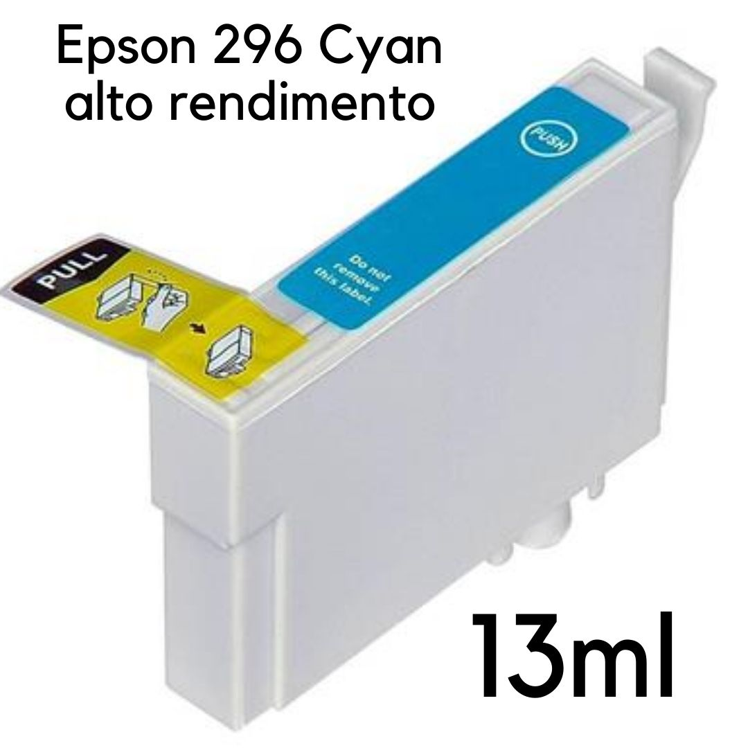 CARTUCHO EPSON CYAN   TO296  XP231  XP241  XP431  XP441 CARTUCHO EPSON COMPATIVEL