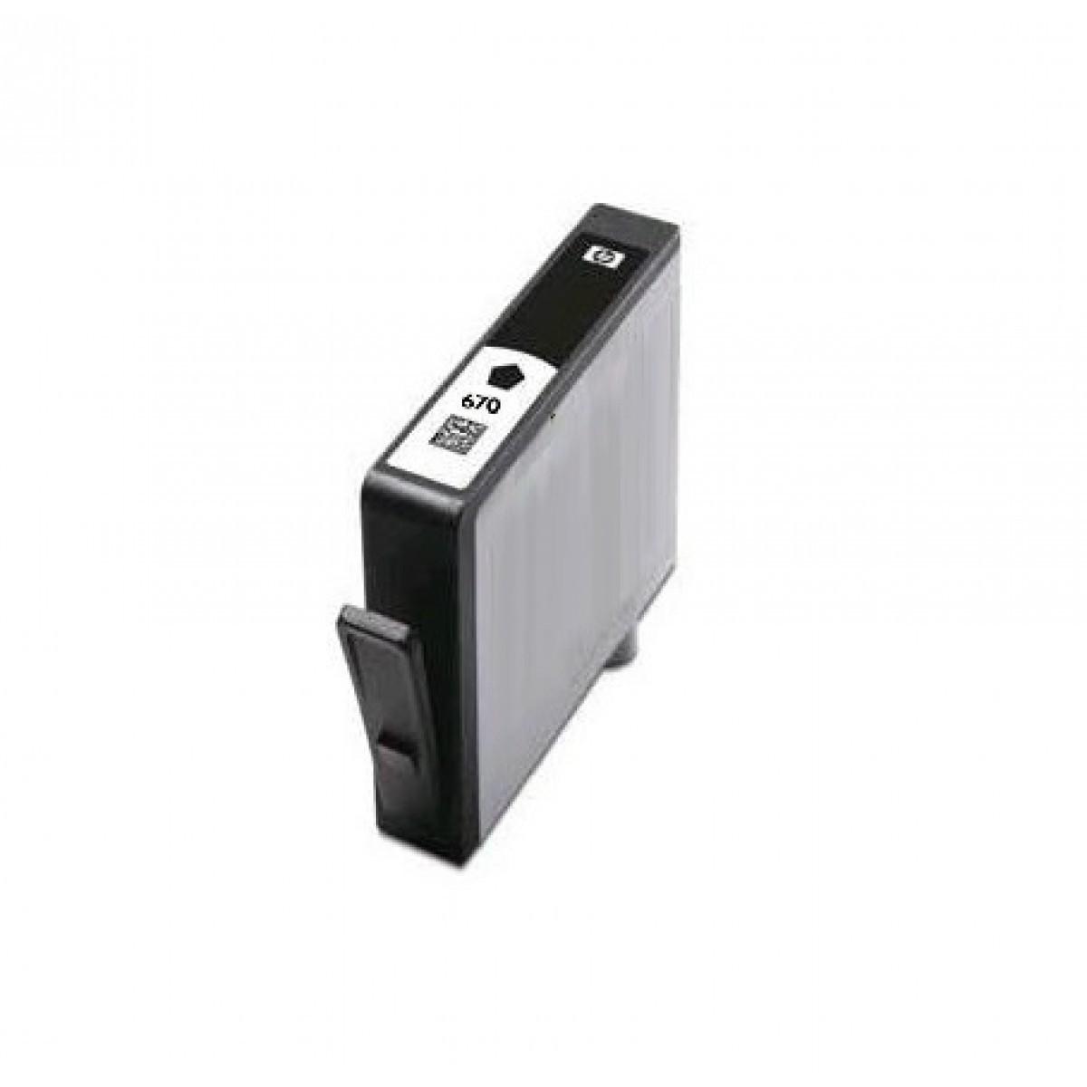 Cartucho HP 670XL CZ117AB | 4615 4625 5525 compatível | Preto |