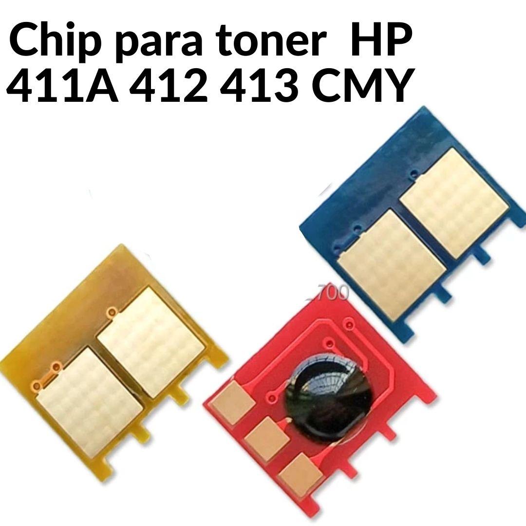 CHIP HP CE411 -  CE412 - CE413  - M351  -M451 - M475  -M375 - M451DW  -M451DN - M451NW. 3.5k KIT COM 3 CORES