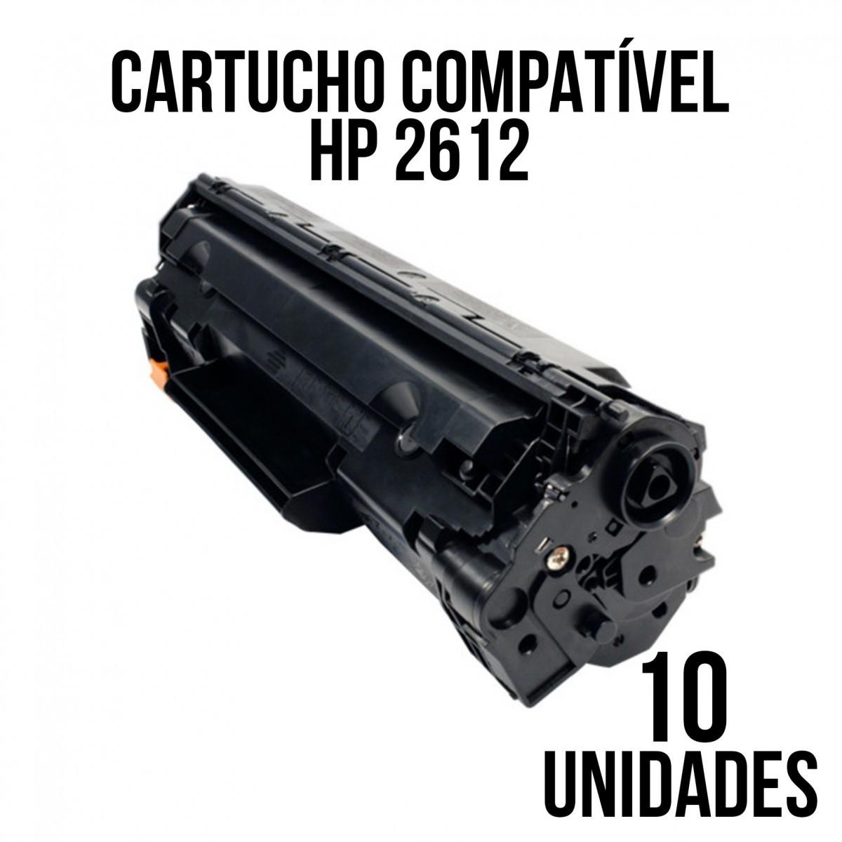 TONER HP 2612 A COMP. (PERSONAL) - COM 10 UNIDADES LaserJet HP 3050, 3050Z, HP 1020, HP 1018, HP 1010, 1012, HP 1015, HP 1022, HP M1005, HP 3015, 3015, 3020, 3030, 3052, 3055, M1319, HP 1022nw e 1022