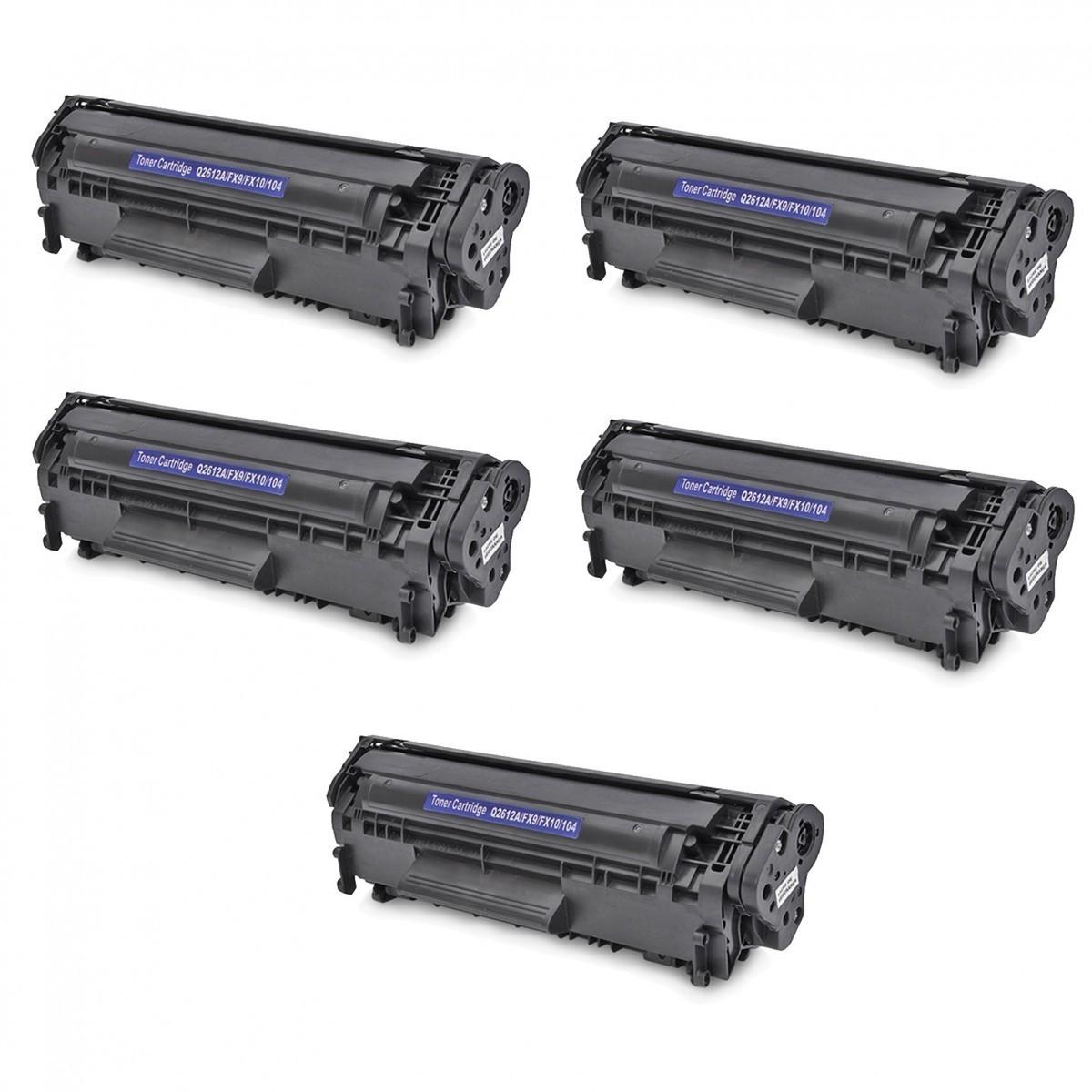 TONER HP 2612 A COMP. (PERSONAL) - COM 5 UNIDADES LaserJet HP 3050, 3050Z, HP 1020, HP 1018, HP 1010, 1012, HP 1015, HP 1022, HP M1005, HP 3015, 3015, 3020, 3030, 3052, 3055, M1319, HP 1022nw e 1022n