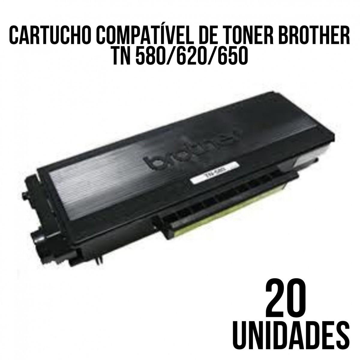 TONER BROTHER 580-620-650 COM 20 UNID COMPATÍVEL