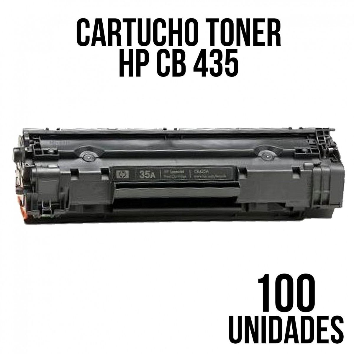 TONER HP 285 / 85a / CE285 / 278 / 85 / 436 / 435/ P1005 / 1006 / 1505 / 1505N / M1552N / COMPATIVEL COM 100 UNIDADES  COMPATIVEL