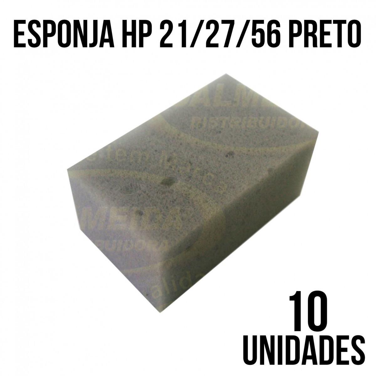 ESPONJA HP 21/27/56 PRETO - COM 10 UNIDADES